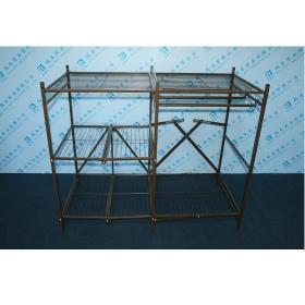 三层折叠置物架