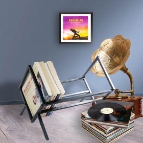 单层唱片架